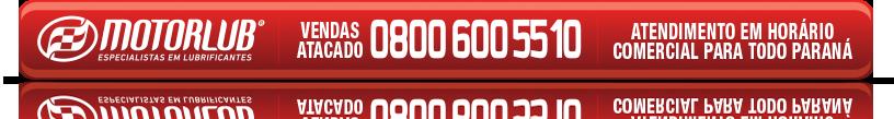 Vendas Atacado em Horário Comercial para todo Paraná - 0800 600 5510