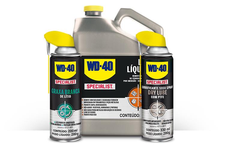 linha WD-40 - 100, 300 e 500 ml